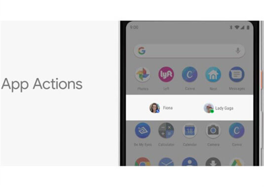 Android P App-Aktionen