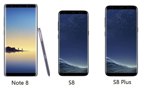 Note 8 vs S8 vs S8 Plus