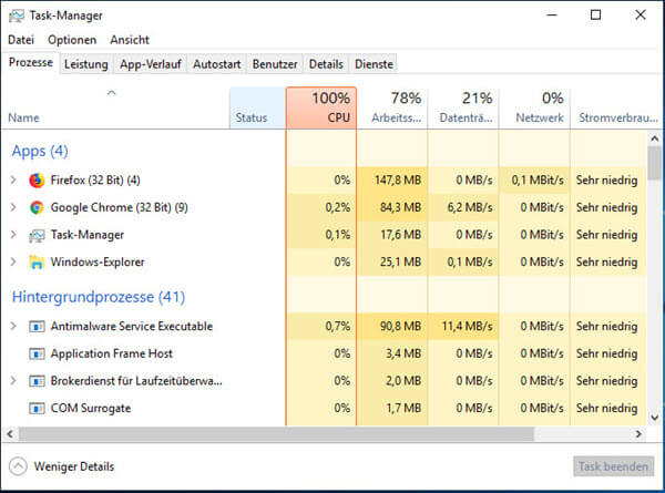 Task-Manager Windows 10